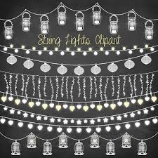 Outdoor Wedding Lights String by String Lights Clipart Chalkboard String Lights
