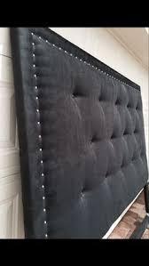 Custom Made Fabric Headboards by King Sized Headboard Tufted Upholstered Velvet Fabric Nailhead