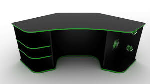 gaming computer desk corner inspirations design with black and