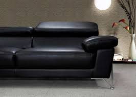 Leather Chair Modern Modern Black Leather Sofa Set Vg724 Leather Sofas