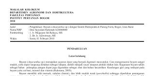 format penulisan makalah sederhana teknik penulisan ilmiah