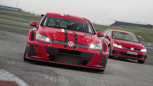 volkswagen race car track only volkswagen golf gti tcr gets a facelift the drive