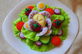 jeux de cuisine salade salade de crevettes de feutre jouet cuisine ensemble jeu de