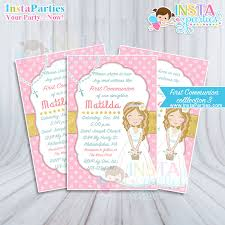 communion invitations for girl communion invitations girl party gold pink golden