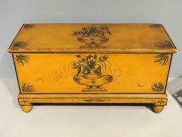 Pine Oak Furniture File Blanket Chest 1836 New England Possibly Connecticut