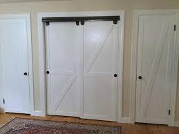 Sliding Barn Door For Closet Impressive Inspiration Sliding Barn Doors For Closets Door Closet