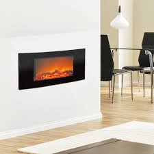 cambridge callisto 35 in wall mount electric fireplace in black