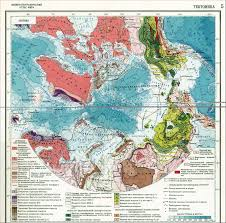 Ussr Map Tectonic Map Of The Arctic From The Physical And Geographical
