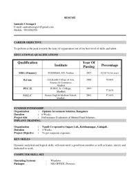resume format for mba finance mba fresher resumes