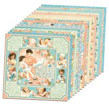 precious memories 12x12 paper pack 16 sheets by graphic 45 for