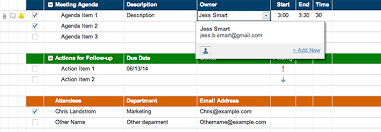 Project Follow Up Template Excel Meeting Agenda Attendance And Follow Up Template Smartsheet