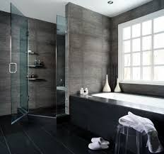 bathroom ideas grey large block tile grey bathroom ideas