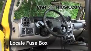 Seeking Fuse Interior Fuse Box Location 2003 2009 Hummer H2 2003 Hummer H2