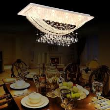 Contemporary Chandeliers For Dining Room Luxuriant Crystal Flush Mount Light With 8 Lights Ceiling Light