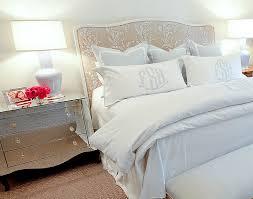 monogrammed shams slumber pinterest masters bedside tables
