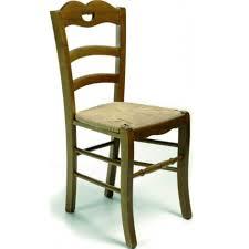 chaise en bois et paille chaise de salle à manger en bois et paille