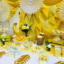 yellow baby shower ideas baby shower decorations yellow bright yellow giraffe ba shower
