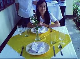 table setting jotting down