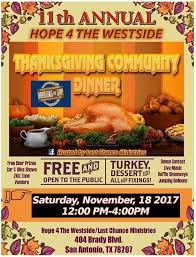 lcm btg annual thanksgiving community dinner event last chance