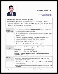 Resume Sample Electrician by Resume Sample Electrical Engineer Free Resume Example And