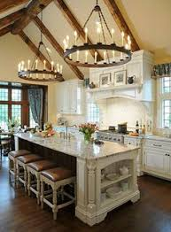 French Country Kitchen Furniture by Repainted Antique White Kitchen Cabinets Kitchens