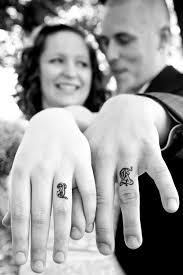 would you your spouses initials on your ring finger