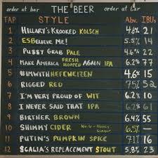 make it a rigged red u2014 seattle brewery u0027s debate night tap list is