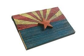 handmade reclaimed wooden arizona flag vintage art distressed