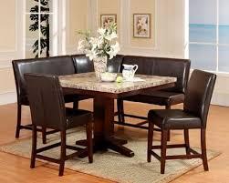 kitchen nook furniture set impressive design dining room booth set black leather corner bench