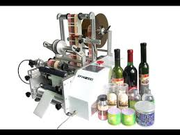 manual syringe labeling machines for round object semi automatic