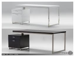 white gloss computer desk mobital span desk with file cabinet in high gloss white beyond