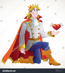 prince charming prince charming ask princess hand marriage stock illustration