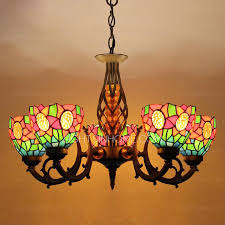 Chandeliers Ls Stained Glass Shade 5 Light Antique Style Chandeliers