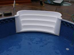 wedding cake pool steps vinyl liner pool renovation colley s