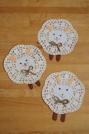 Easter Sheep Decorations by Easy Sheep Decorations Using Paper Doilies Website In Hungarian