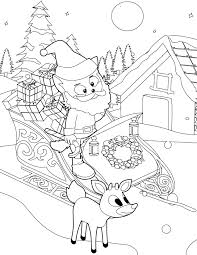 santa coloring page handipoints