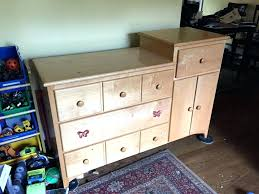 cherry changing table dresser combo wood changing table dresser white wood changing table dresser