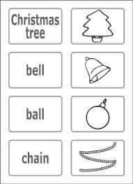 christmas vocabulary for kids learning english printable resources