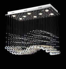 Pendant Lighting Fixture Modern Rectangular Linear Chandelier Pendant Lighting