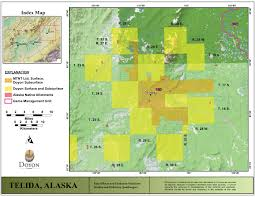 Tanana Alaska Map by Doyon Limited Lands Maps