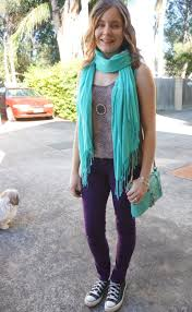 Skinny Jeans And Converse Away From Blue Skinny Jeans Colourful Scarves And Rebecca