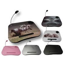 Laptop Desk With Led Light Portable Cushion Padded Bean Bag Tray Led Light Laptop Laptray