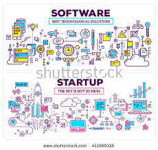 vector creative concept illustration software startup stock vector