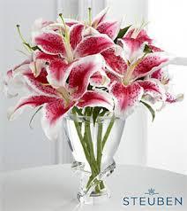 Flower Arrangements In Vases Steuben Glass Flower Arrangements U0026 Crystal Vases Ftd