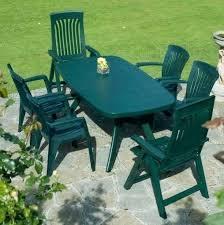 Green Plastic Patio Chairs Plastic Garden Table Outdoor Plastic Furniture Marvelous Green