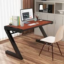 Metal Computer Desk Computer Desk Tribesigns Z Shaped Office Desk Workstation With