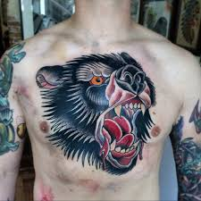 60 traditional chest tattoo designs for men old ideas