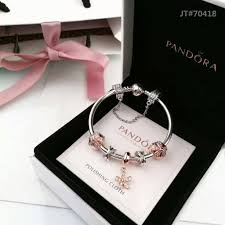 rose gold bracelet with charms images Pandora bracelet with rose gold theme 5 charms 119 00 jpg