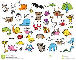 cute drawings of animals for kids