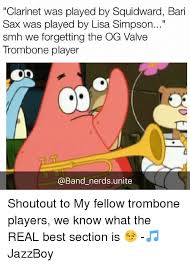 Clarinet Player Meme - clarinet was played by squidward bari sax was played by lisa simpson